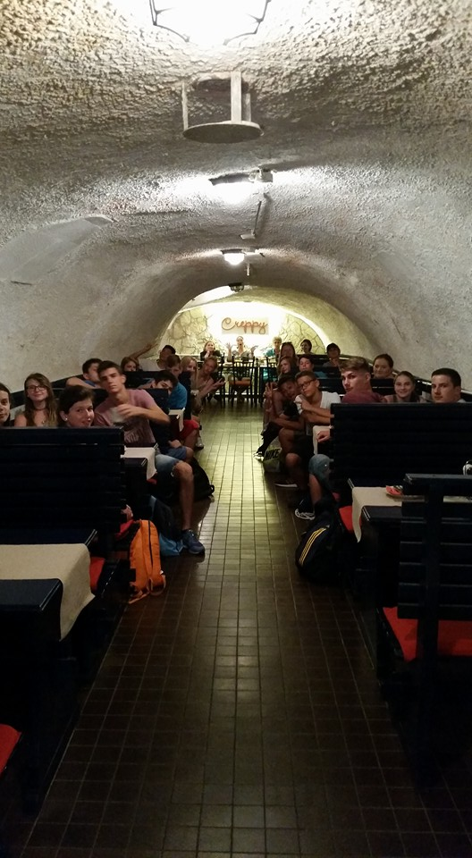 Palacsintaház Miskolc - Essen im alten Gewölbe