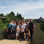 Gruppenfoto im Botanischen Garten