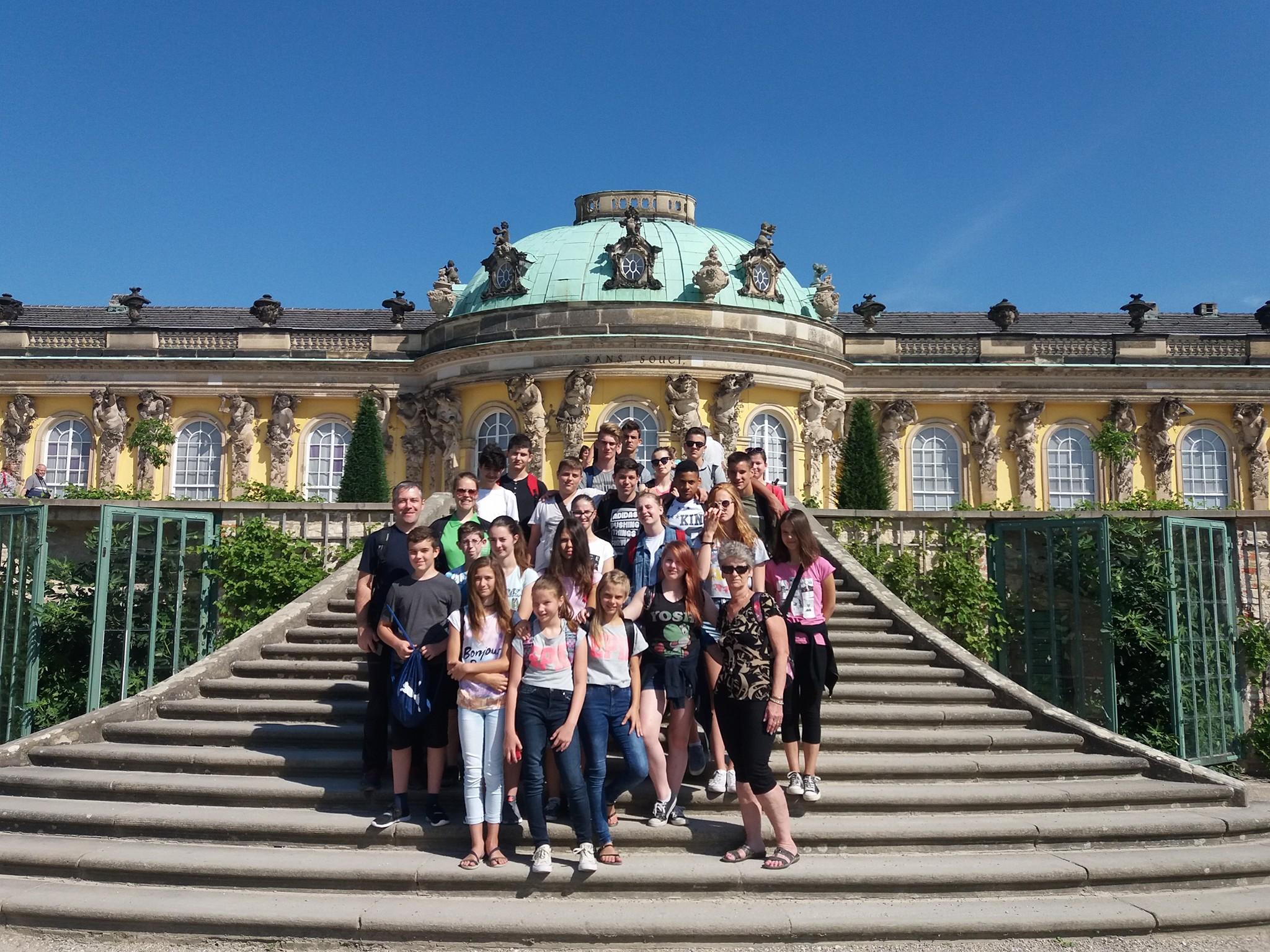 Gruppenfoto Schloss Sans Soucis